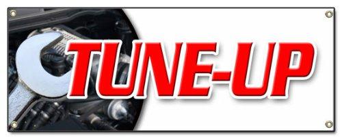 Tune Up Banner Sign Repair Diagnosis Fix Check Engine Spark Plug Distributor Cap Fluid Change Oil - Auto Tune Brake