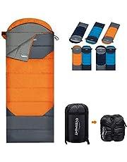 Overmont Camping Sac de Couchage rectangulaire 3-4 Saisons Imperméable Portable avec Sac de Compression la Randonnée et Activités D'extérieur