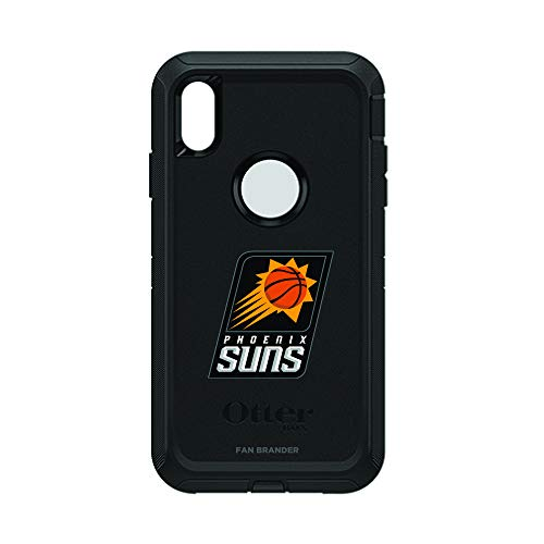 (Fan Brander NBA Black Phone case, Compatible with Apple iPhone Xs Max with OtterBox Defender Series (Phoenix Suns))