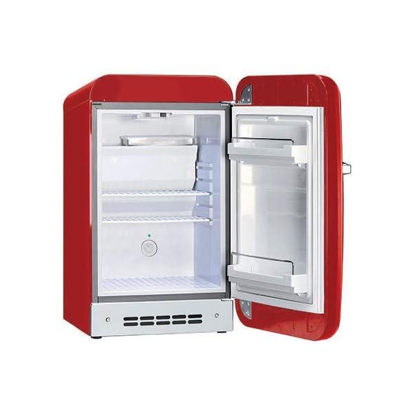 Smeg 50 S Retro Style Mini Refrigerator, Black, Right Hand Hinge 4