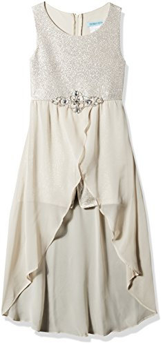 Tween Diva Tween Diva Girls' Big High Low Special Occasion Romper, Beige 14 price tips cheap