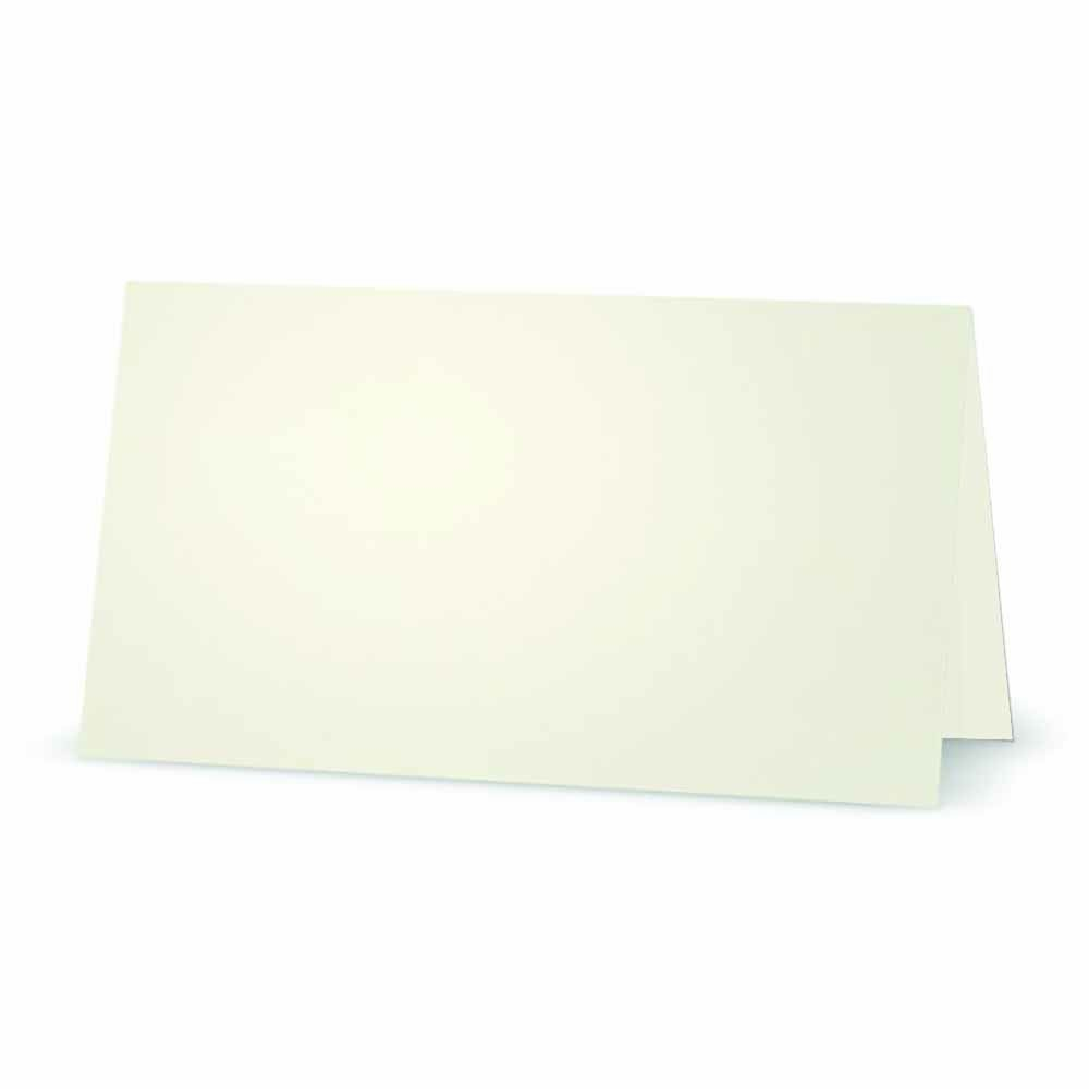 Ivory Place Cards - Flat or Tent Style - 10 or 50 Pack - Solid Color Placement Table Name Dinner Seat - Stationery Party Supplies - Any Occasion Event or Holiday (50, TENT STYLE)