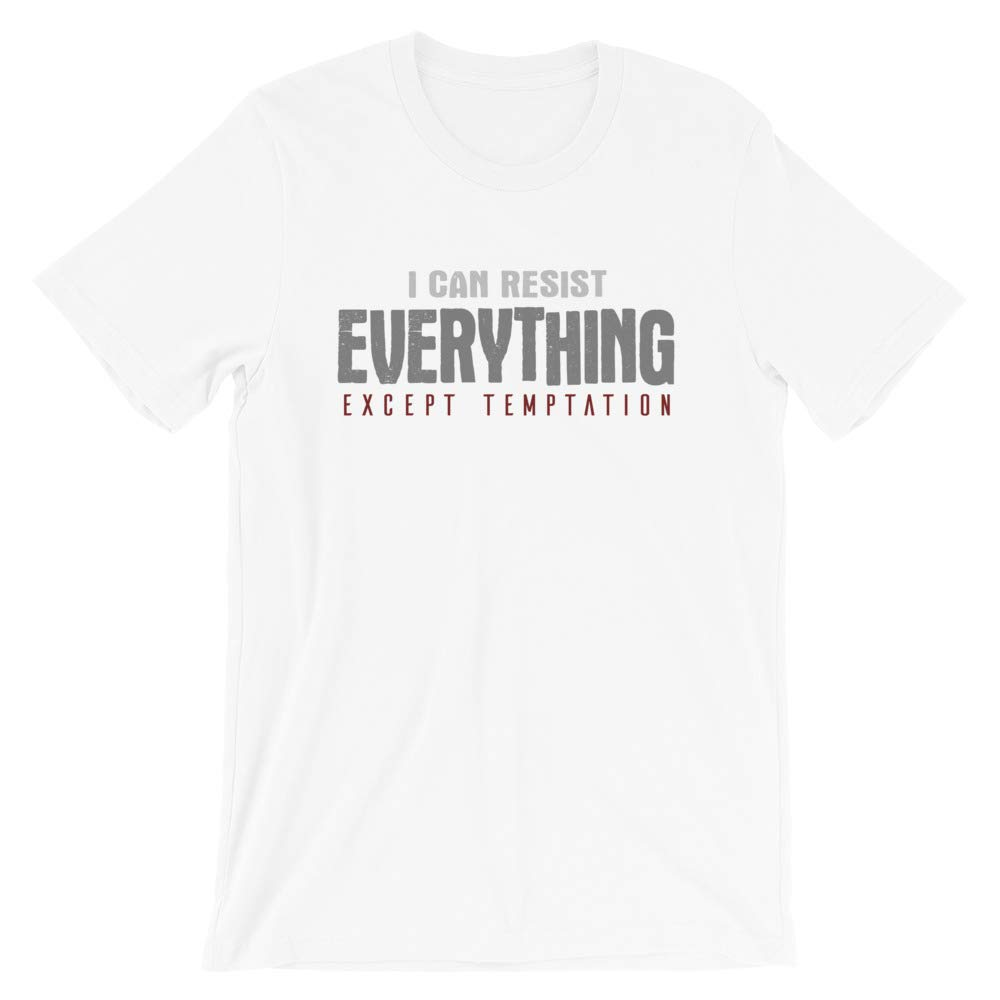 Temptation Funny Quote T Shirt Novelty Gift for Men /& Women Graphic Tee