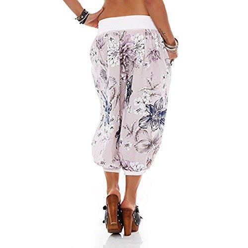 Ins Passante Super Mme Blanc Noir Threaded Avec Floral Bande De Goutte RTro Pants Largeur Feuilles Jambe Vent Print Femme SOMESUN Large Pieds Blanc Imprim Bleu Digital Plage Pantalon TwxHqPUq