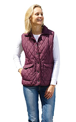 Champion Ladies Womens Country Estate Quilted Gilet Bodywarmer Walking Riding Jacket Plum