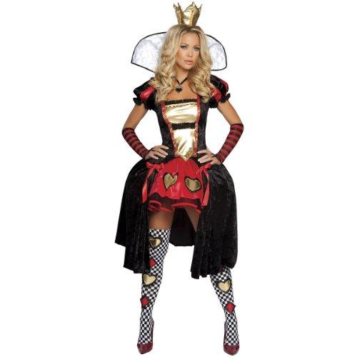 Alice in Wonderland-Wicked Wonderland Queen Adult Costume Size 6-10 Medium/Large (Ladies Alice In Wonderland Costume)