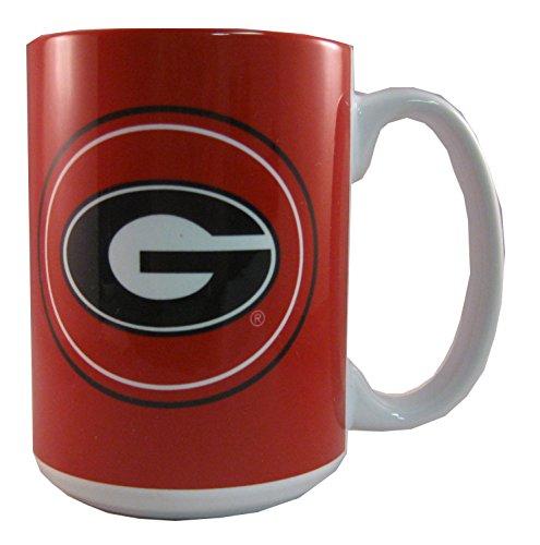 NCAA Georgia Bulldogs 15 oz Warm Up Ceramic Coffee (Ncaa Georgia Bulldogs Ceramic)