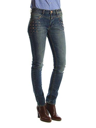 Carrera Jeans Jeans 752 pour femme, avec applications, tissu extensible, taille normale, taille normale 180 - Bleu Moyen  Sec (Lavage de la Pierre)