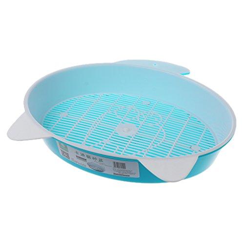 Richi Pet Cat Toilet Cat Litter Basin Round Enclosed Bedpans Cat Training Toilet (Blue)