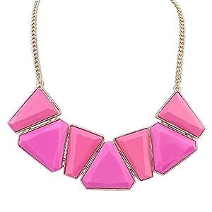 ACE Geometría Moda collar de piedras preciosas de color-1
