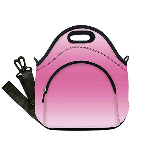 - Insulated Lunch Bag,Neoprene Lunch Tote Bags,Ombre,Fairytale Cotton Candy Inspired Girly Design Room Decorations Digital Modern Art Print,Pink,for Adults and children