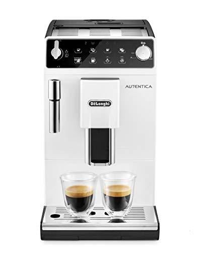 Delonghi super-automatic espresso coffee machine with an adjustable grinder, milk frother, maker for brewing espresso, cappuccino, latte. ETAM 29.513.W Autentica