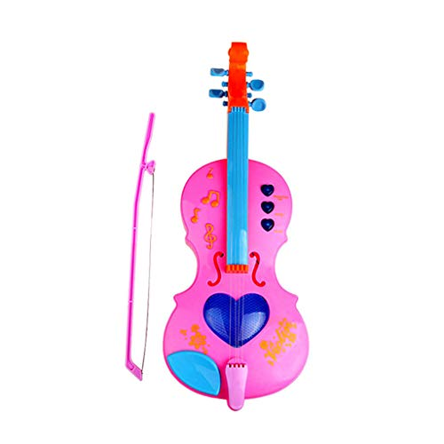 - Violin Toy Musical Instruments Toys Portable Plastic Cartoon Violin Light up BPA Free Musical Learning Toy Develop Auditory System Promote Brain Development for 3 Age and up Kids
