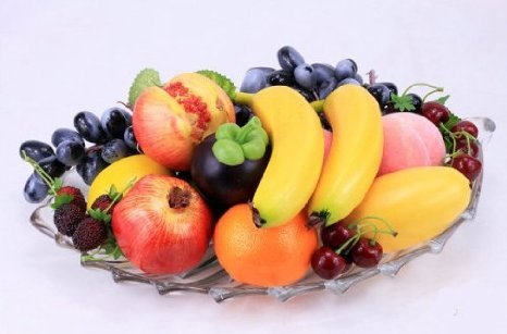 EQLEF® 10 Stück Deko künstliche Früchte Kunstobst Kunstgemüse künstliches Obst Gemüse Dekoration, künstliche Frucht-Dekoration