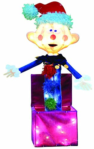 ProductWorks 24-Inch Pre-Lit 3D Charlie in The Box Christmas Yard Decoration, 35 Lights
