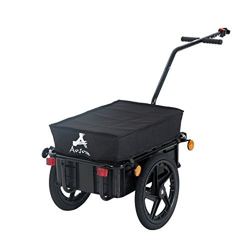 Buy Discount Aosom B71-005 Enclosed Bicycle Cargo Trailer, Black