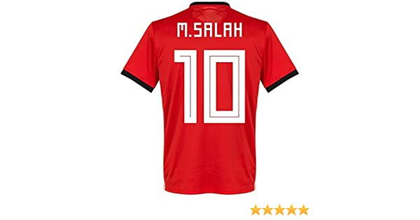 Amazon.com : Mohamed Salah #10 Egypt National Team Jersey Russia 2018 (M) : Sports & Outdoors