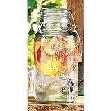 Home Essentials & Beyond Impression Ice Cold Beverage Dispenser 1 gallon Bail & Trigger Jug, Clear