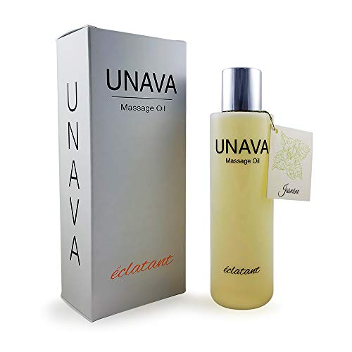 Jasmine Massage Oil for Couples - Set The Mood for a Relaxing Night with a Luscious Jasmine Aroma - Experience UNAVA eclatant, a Body Oil and Moisturizer (Oil Jasmine Dry)