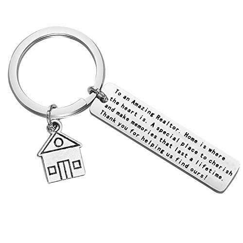 FEELMEM Realtor Gift Land Investor Keychain to an Amazing Realtor Investment Jewelry for Real Estate Agent Landlord (Key)