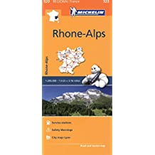 Michelin France: Rhone-Alpes Map 523