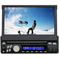 Tview D76TSB  In-Dash Flip Out Touch Screen Monitor with DVD Player and Bluetooth (Black)