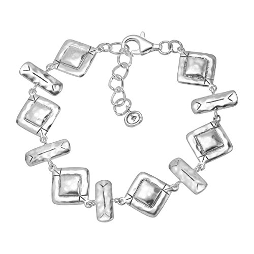Silpada 'Hammered Links' Sterling Silver Geometric Bracelet, 7
