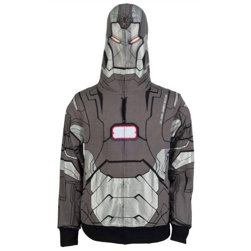 Iron Man War Machine Costume Mens (Iron Man I Am War Machine Costume Zip Hoodie Size Medium)