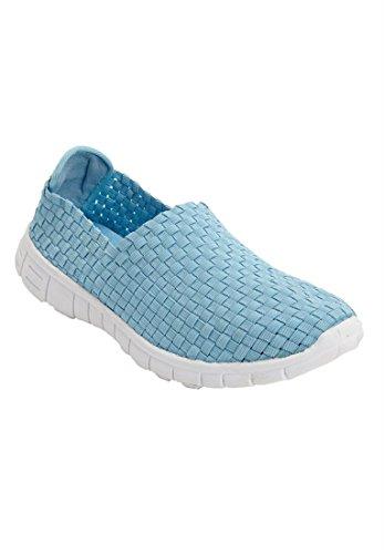 Bargain Catalog Outlet Comfortview Plus Size Ria Woven Sneaker Silver cIbXQI