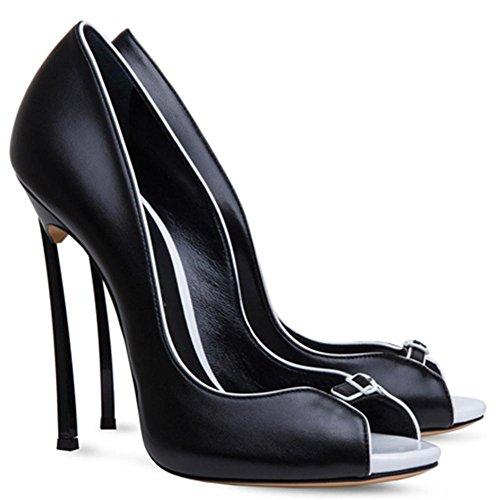 Abend Peep Größe Damen Fashion High Schwarz Stiletto Prom Braut Sandalen Heel Toe Party Schuhe Frauen FwqxC7ada
