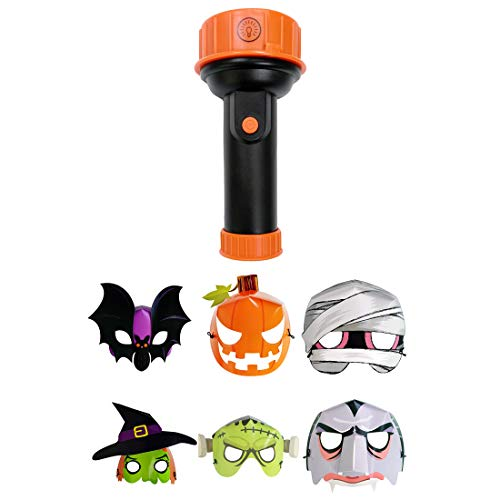 WEYFLY Halloween Projection Flashlight with 12 Packs Fluorescent