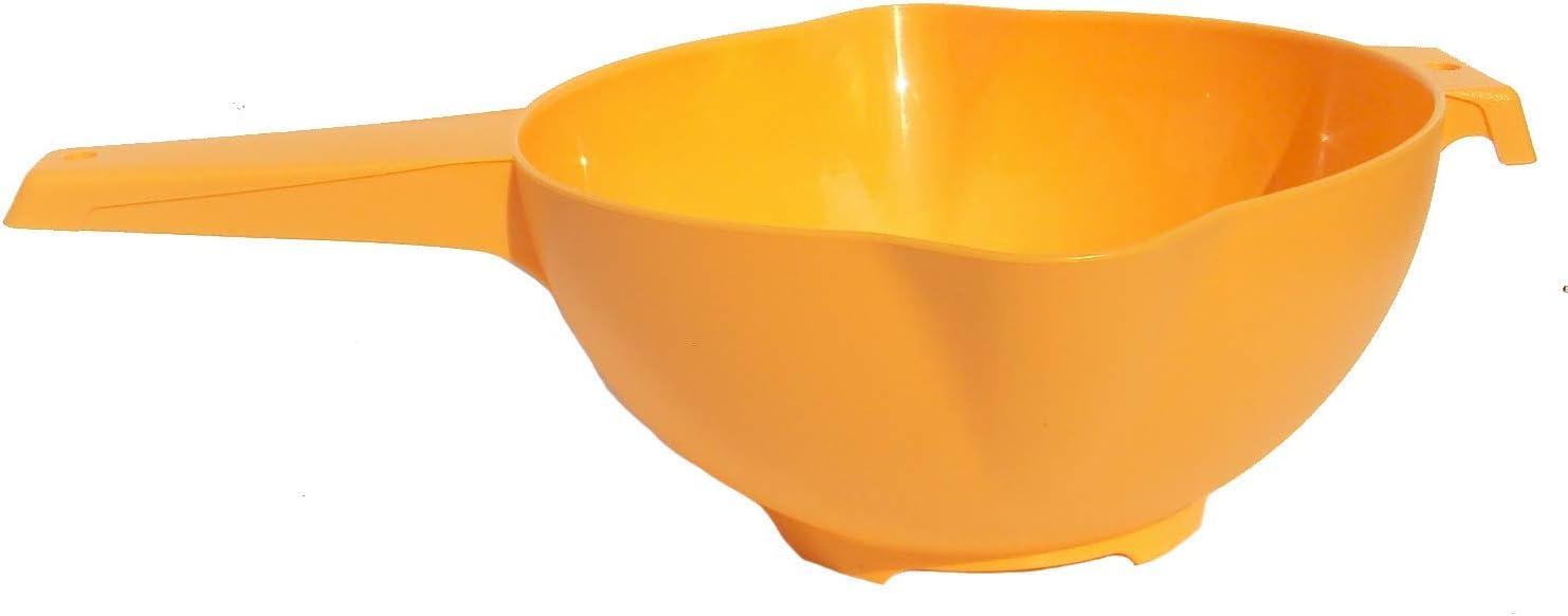 Tupperware 2 Quart Colander Strainer with Handle in Orange