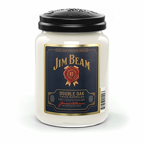 (DOUBLE OAK JIM BEAM 26 oz Scented Jar Candle by Candleberry)
