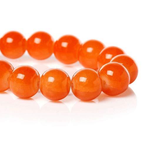 - 20 Orange Crackle Glass Beads 10mm - Tones of Orange Streaks - BD782