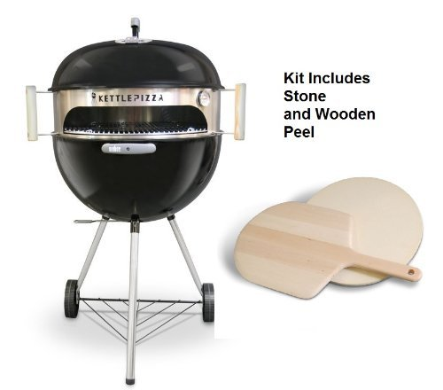 Deluxe KettlePizza Oven for Weber Kettle Grills - Bonus Woodfired Oven Cookbook by Kettle Pizza