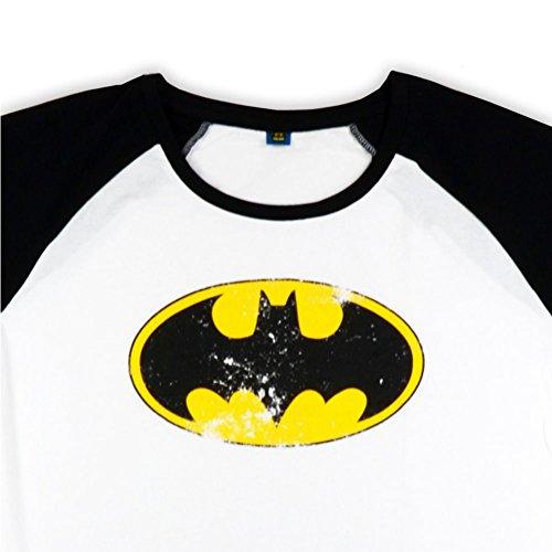 Batman Logo Damen Shirt 3/4-Arm (schwarz-weiß)