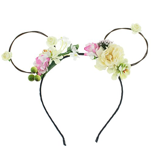 Lovemyangel Antlers Headbands Girl Adult Christmas Easter and Halloween Party Hair Accessoies (Ears)