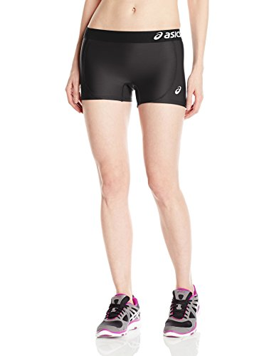 - ASICS Women's Team Shorts, Black/Black, Small