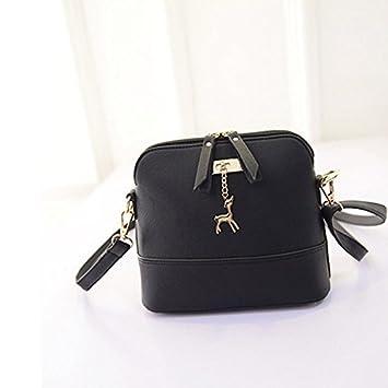WEUIE Medium Crossbody Bag with Pendant and Zipper Pocket,Women Shoulder Bags Messenger Bags Leather Handbag