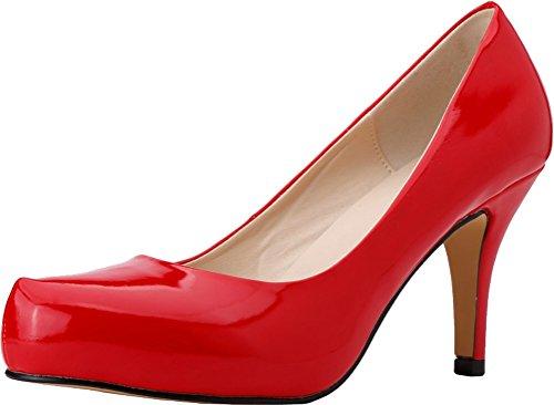 Ol Pu 168 Slip Heeled Toe Red Ladies On 37 Bride 1qp Job Party Wedding Closed Nightclub Eu Pumps Bridesmaid Comfort O1WZ1nx7
