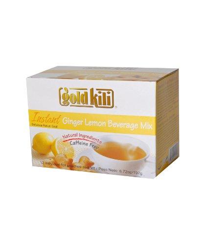 Gold Kili All Natural Instant Ginger & Lemon Beverage Mix, 6.72-Ounce Boxes (Pack of (Natural Instant Beverage)