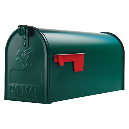 (Gibraltar Mailboxes Elite Medium Capacity Galvanized Steel Green, Post-Mount Mailbox, E1100G00)