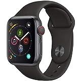 Apple Watch Series 4 Cellular, 40 mm, Alumínio Cinza Espacial, Pulseira Esportiva Preta e Fecho Clássico - Mtvd2bz/a