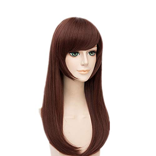 MSHUI Shooter Game D.Va Hana Song Anime Cosplay Red Brown Hair -