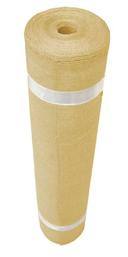 Coolaroo Outdoor Shade - Coolaroo Shade Fabric 90% Outdoor or Exterior UV Protection for People, Pet, and Home Cover, (12' X 50'), Wheat