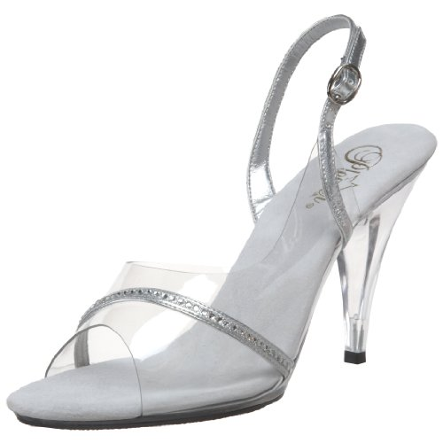Pleaser Caress-456 - Zapatos con correa de tobillo para mujer Transparente (Clear)
