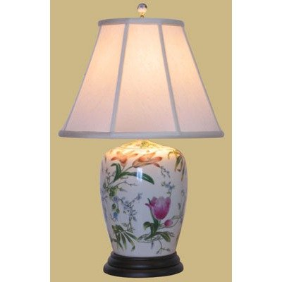 Porcelain Jar Lamp Ginger (25
