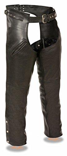 (Milwaukee Leather Men's Gun Holster Leather Chap w/ Thigh Pockets (Black, 5X))