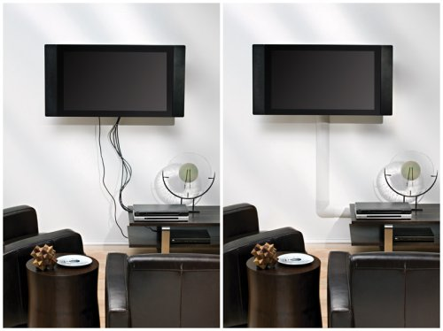 tv wire organizer flat screen cable cord hide holder cover system white ebay. Black Bedroom Furniture Sets. Home Design Ideas