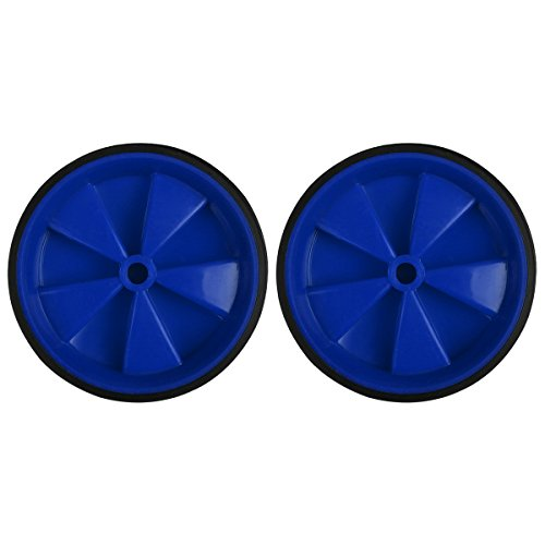Herbalcandybox 1 Pair 4.33 Inch Kids Bicycle Training Replacement Wheels for 12-20 Inch Kids Bike, Blue